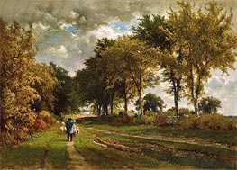 The Road to the Farm, 1862 by George Inness | Painting Reproduction