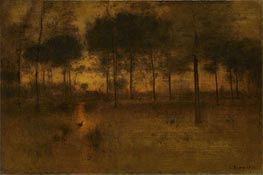 The Home of the Heron, 1893 von George Inness | Gemälde-Reproduktion