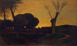 Evening at Medfield, Massachusetts | George Inness | Painting Reproduction