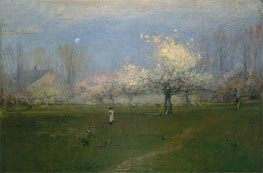 Spring Blossoms, Montclair, New Jersey | George Inness | Painting Reproduction