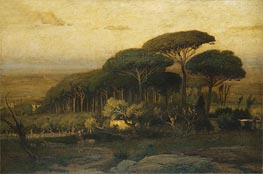 Pine Grove of the Barberini Villa | George Inness | Painting Reproduction