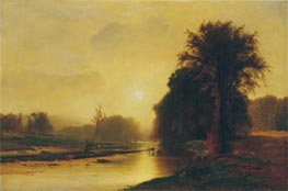 Autumn Meadows | George Inness | Painting Reproduction