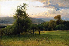 The Church Spire | George Inness | Painting Reproduction
