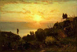 Lake Albano, Sunset | George Inness | Painting Reproduction