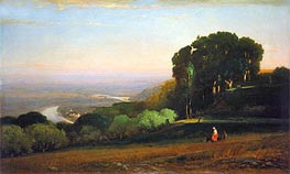 View of the Tiber near Perugia | George Inness | Painting Reproduction