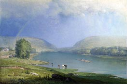 The Delaware Water Gap, a.1857 by George Inness | Painting Reproduction