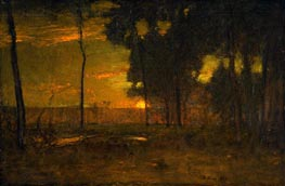 Golden Glow (The Golden Sun), 1894 von George Inness | Gemälde-Reproduktion