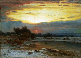 A Winter Sky | George Inness | Painting Reproduction