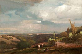 Approaching Storm from the Alban Hills, 1871 von George Inness | Gemälde-Reproduktion