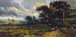 Fleecy Clouds | George Inness | Painting Reproduction