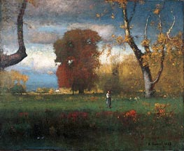 Landscape, 1888 by George Inness | Painting Reproduction