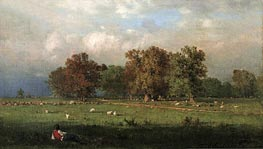 Durham, Connecticut, 1858 by George Inness | Painting Reproduction