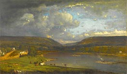 On the Delaware River, c.1861/63 by George Inness | Painting Reproduction
