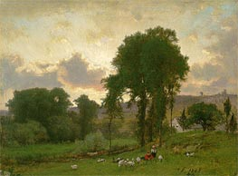 Durham, Connecticut, 1869 by George Inness | Painting Reproduction