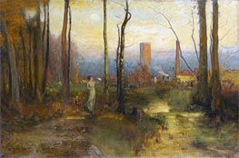 The Mill Stream, Montclair, New Jersey, c.1888 by George Inness | Painting Reproduction