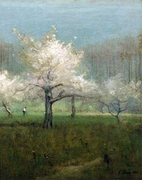 Apple Blossom Time, 1883 by George Inness | Painting Reproduction