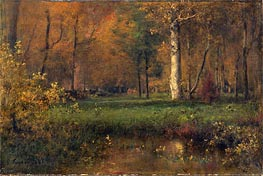 Landscape with Yellow Bushes, 1865 von George Inness | Gemälde-Reproduktion