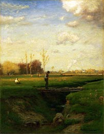 Short Cut, Watchung Station, New Jersey | George Inness | Gemälde-Reproduktion