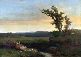 Twilight on the Campagna, c.1851 by George Inness | Painting Reproduction