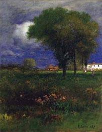 September Afternoon, 1887 by George Inness | Painting Reproduction