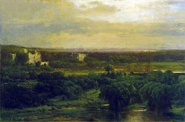 The Valley of the Olives, 1867 by George Inness | Painting Reproduction