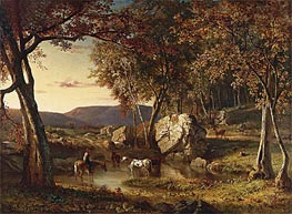 Summer Days, 1857 by George Inness | Painting Reproduction