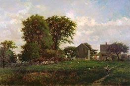Massachusetts Landscape, 1865 by George Inness | Painting Reproduction
