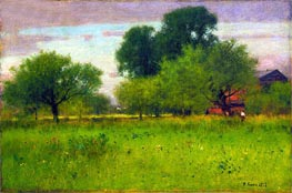 Apple Orchard, 1892 by George Inness | Painting Reproduction