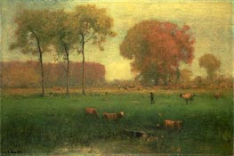 Indian Summer, 1891 by George Inness | Painting Reproduction