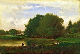 Landscape, 1860 by George Inness | Painting Reproduction