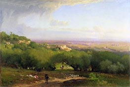 The Alban Hills, 1873 by George Inness | Painting Reproduction