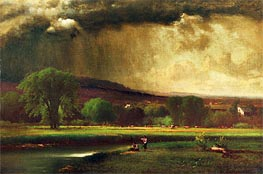 Coming Thunderstorm (Approaching Storm), 1868 von George Inness | Gemälde-Reproduktion