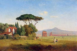 Roman Campagna, 1858 by George Inness | Painting Reproduction