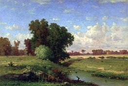 Hackensack Meadows, Sunset, 1859 by George Inness | Painting Reproduction