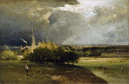 The Coming Storm, c.1879 von George Inness | Gemälde-Reproduktion