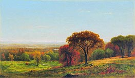 Across the Hudson Valley in the Foothills of the Catskills, 1868 by George Inness | Painting Reproduction