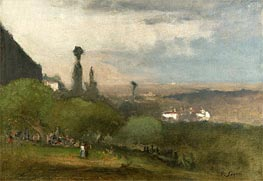 Monte Lucia, Perugia, 1873 by George Inness | Painting Reproduction