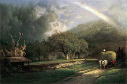 The Rainbow in the Berkshire Hills, 1869 by George Inness | Painting Reproduction