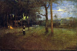 Moonlight, Tarpon Springs, 1892 by George Inness | Painting Reproduction