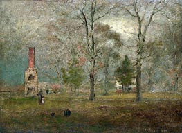 Grey day, Goochland, 1884 by George Inness | Painting Reproduction
