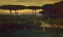 The Monk, 1873 by George Inness | Painting Reproduction
