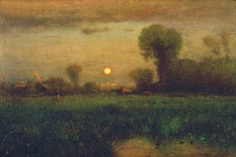 Harvest Moon, 1891 by George Inness | Painting Reproduction