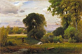 Landscape, 1877 by George Inness | Painting Reproduction