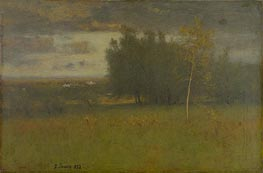 The Valley on a Gloomy Day, 1892 von George Inness | Gemälde-Reproduktion