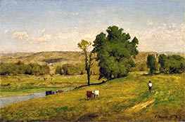Landscape, 1878 by George Inness | Painting Reproduction