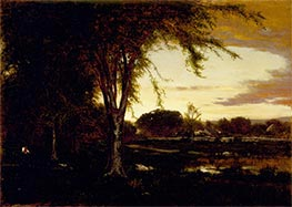 Landscape, 1866 by George Inness | Painting Reproduction