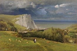 Etretat, 1875 by George Inness | Painting Reproduction