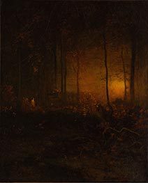 Watching the Sun Glow, 1887 by George Inness | Painting Reproduction