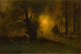 Sunrise in the Woods | George Inness | Painting Reproduction