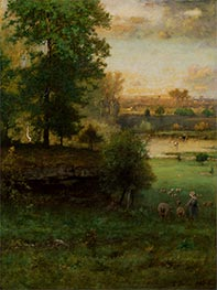 Scene at Durham, an Idyll | George Inness | Painting Reproduction
